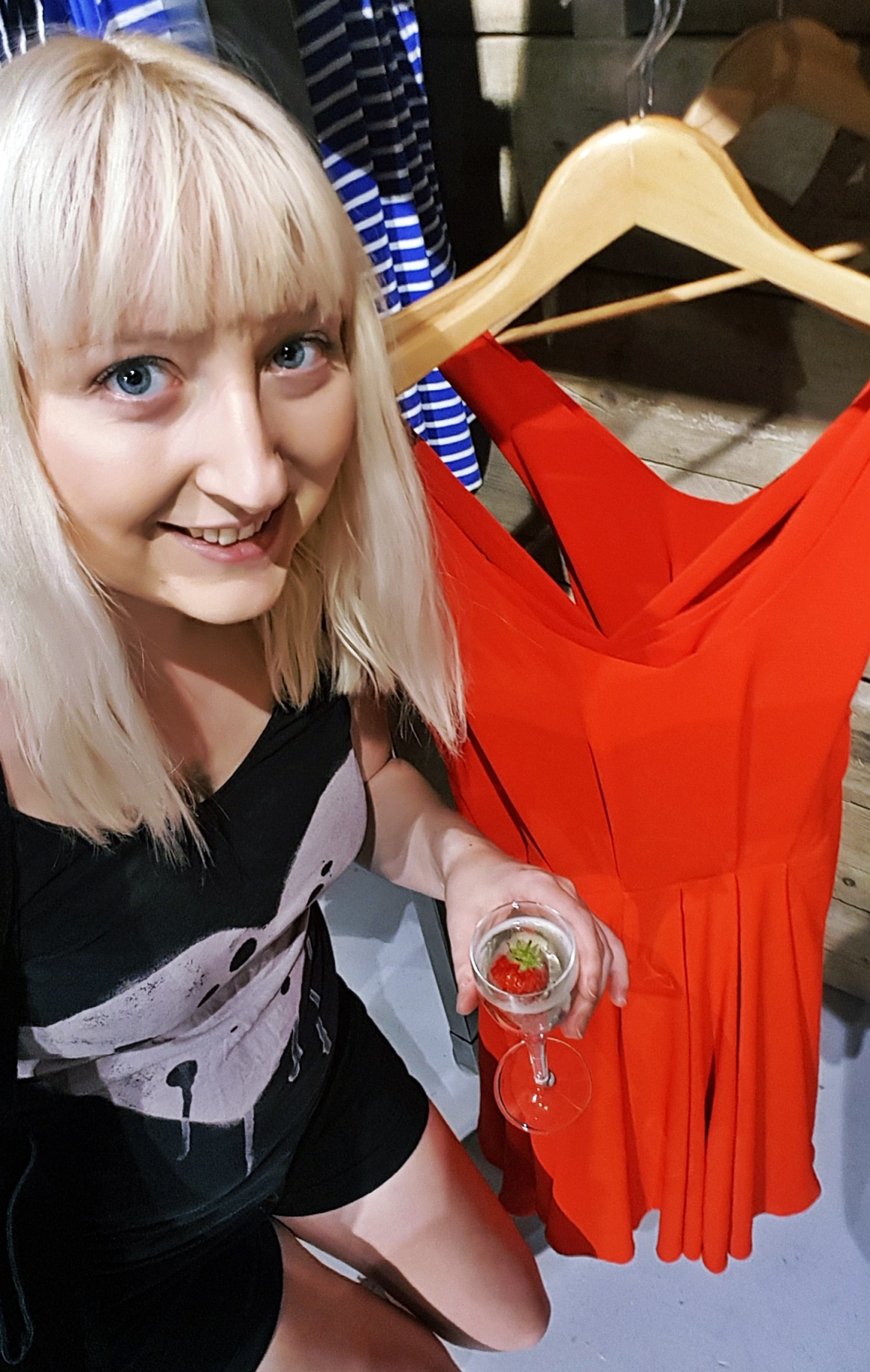 Me with a pretty red dress - Tune in with Joy the Store, Leeds shop review by BeckyBecky Blogs