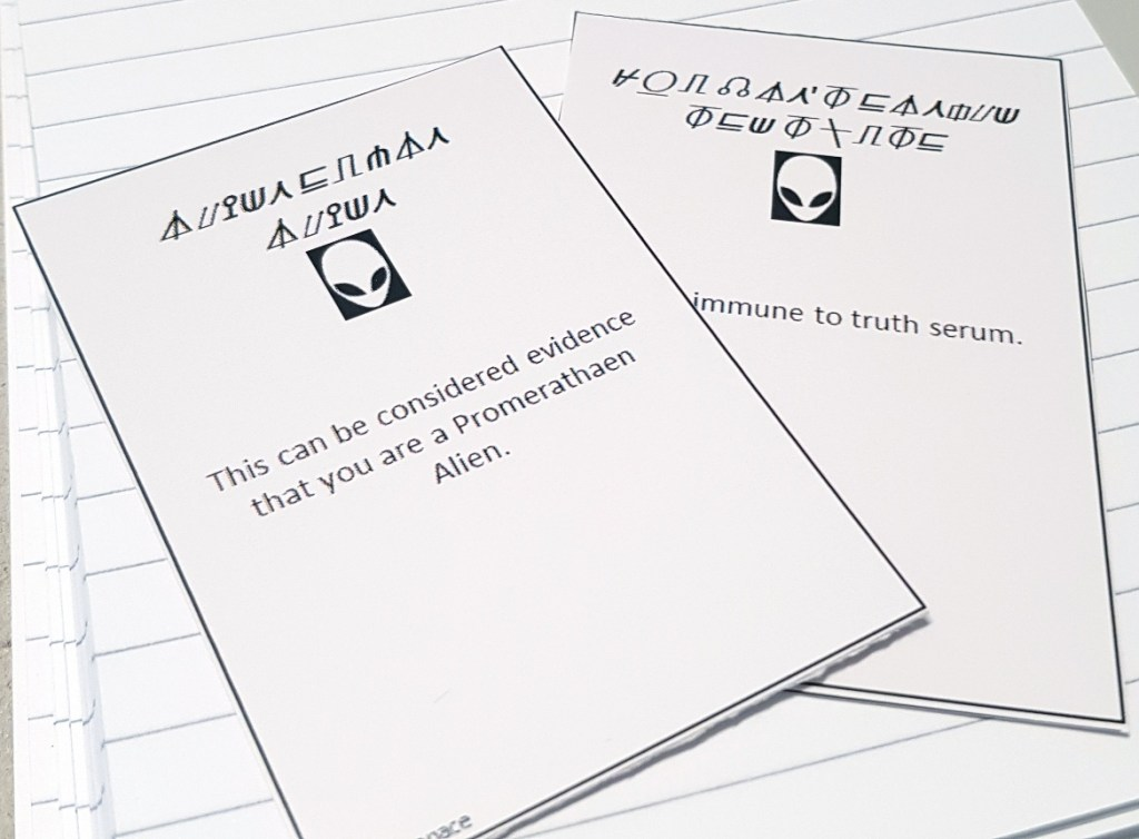 Promarathaen card - Lights in the Sky Megagame Report by BeckyBecky Blogs