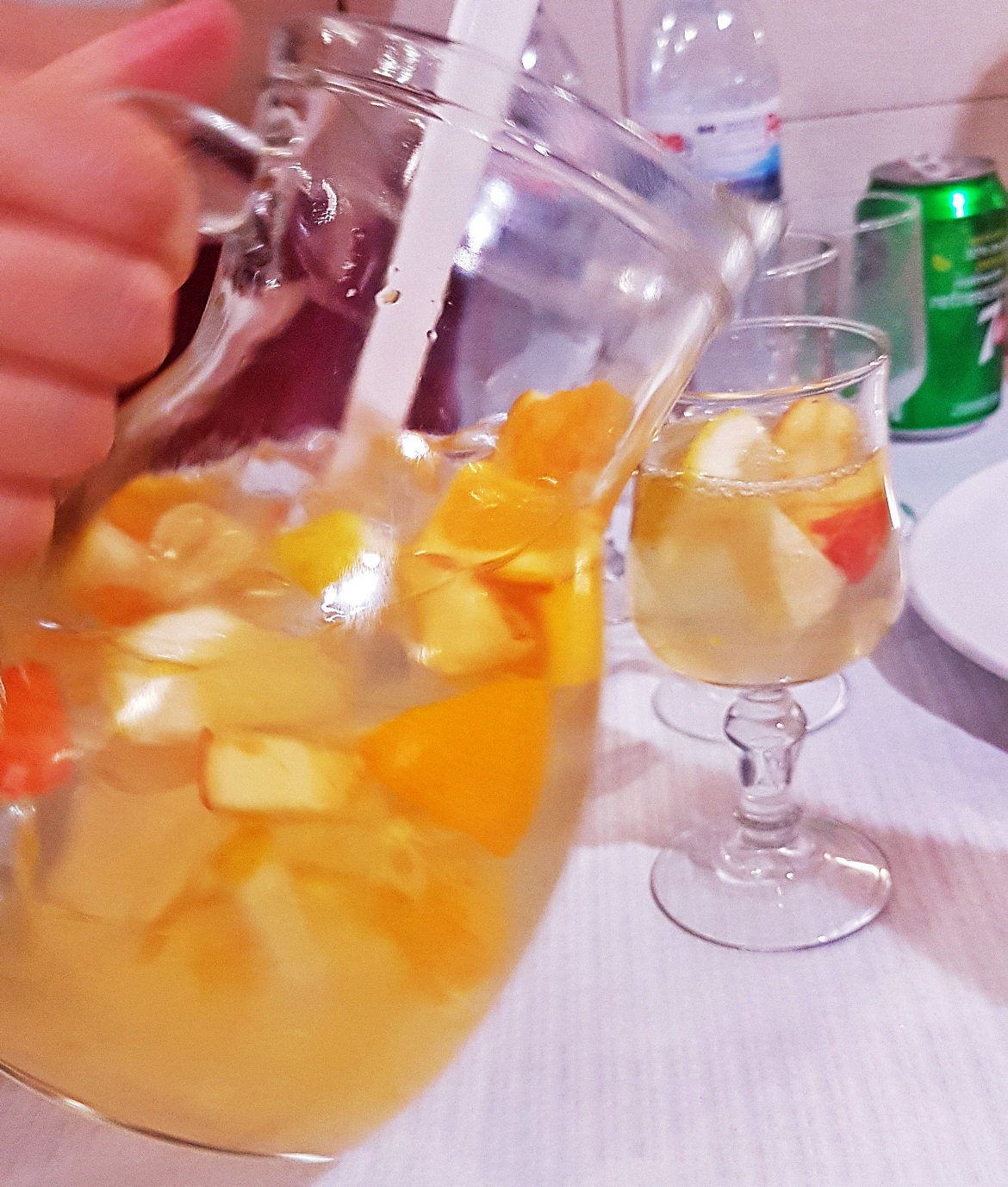 White sangria at Restaurant de Calçada - Food and Drink in Lisbon, review by BeckyBecky Blogs