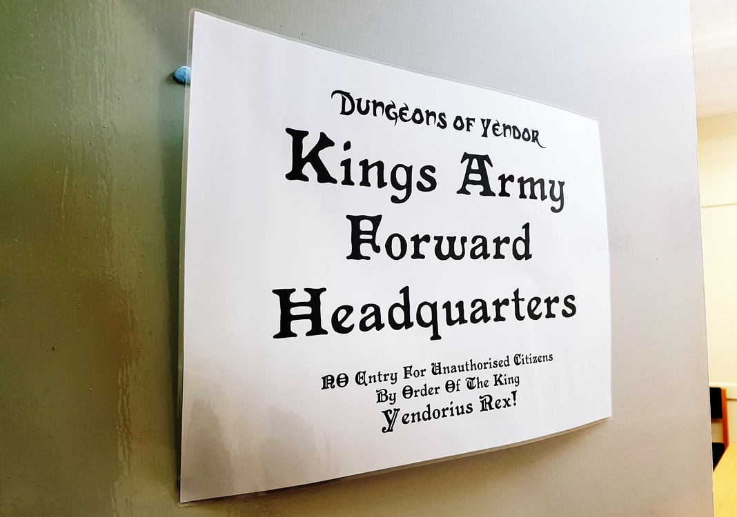King's Army HQ at the Dungeons of Yendor Megagame