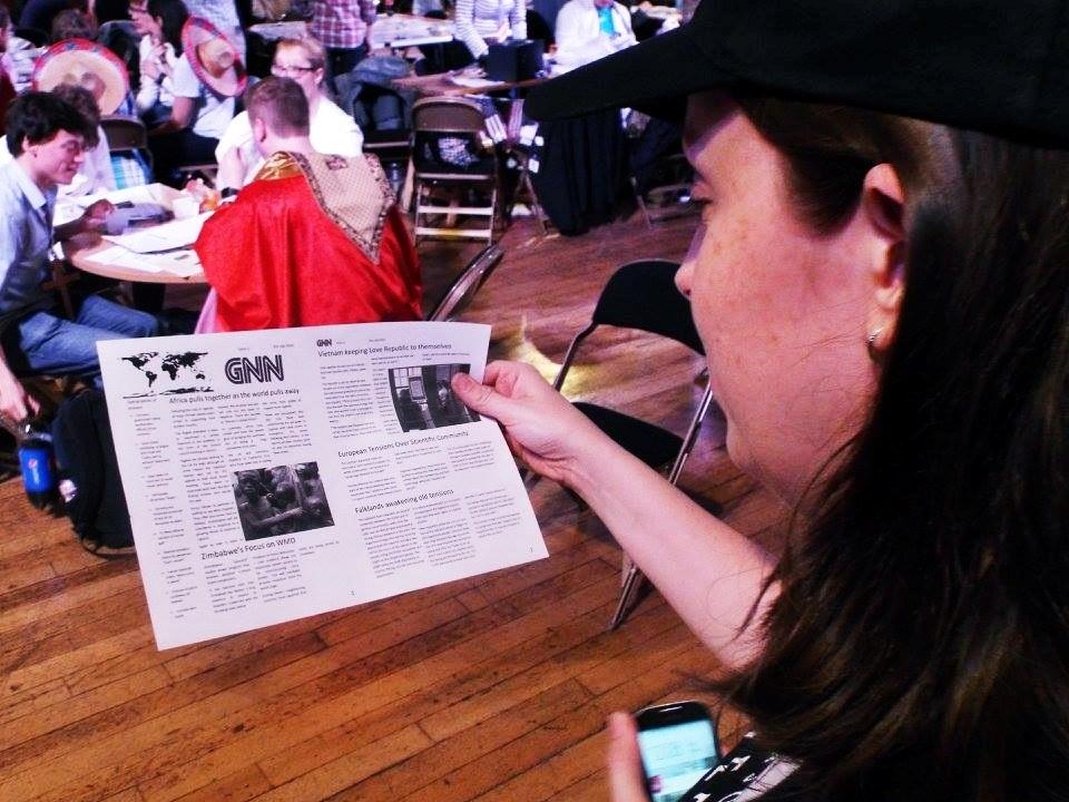 Printed news at a megagame - Press at Megagames by BeckyBecky Blogs 