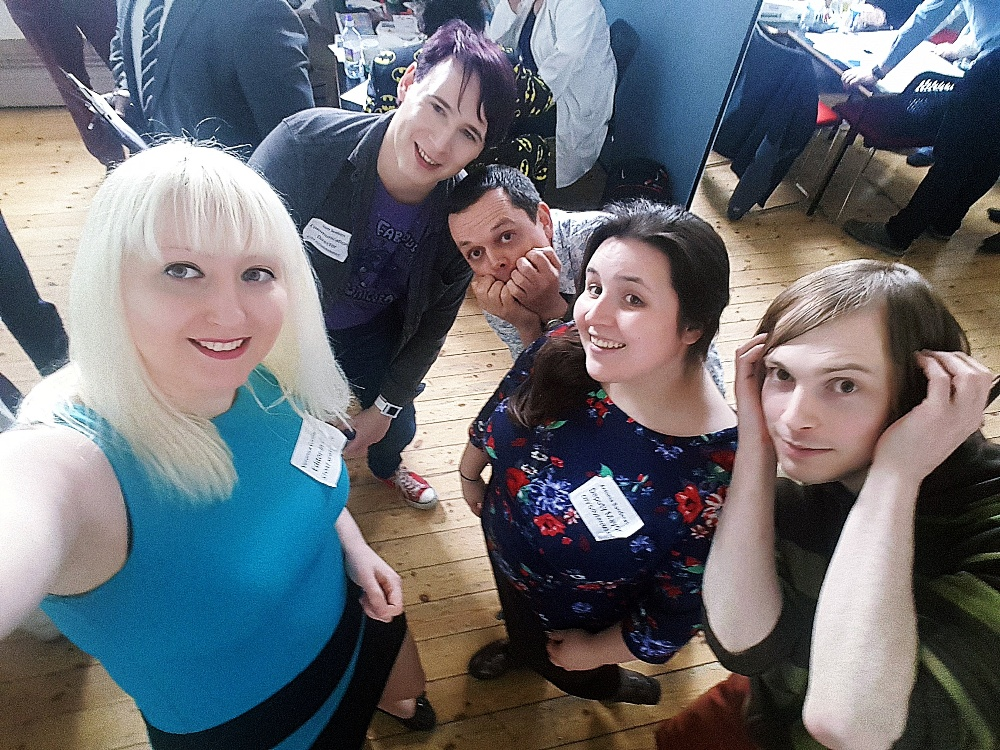 The press team and mayor's office evacuating at Urban Nightmare Redux megagame - Urban Nightmare: State of Chaos, the Wide Area Megagame, After Action Report by BeckyBecky Blogs