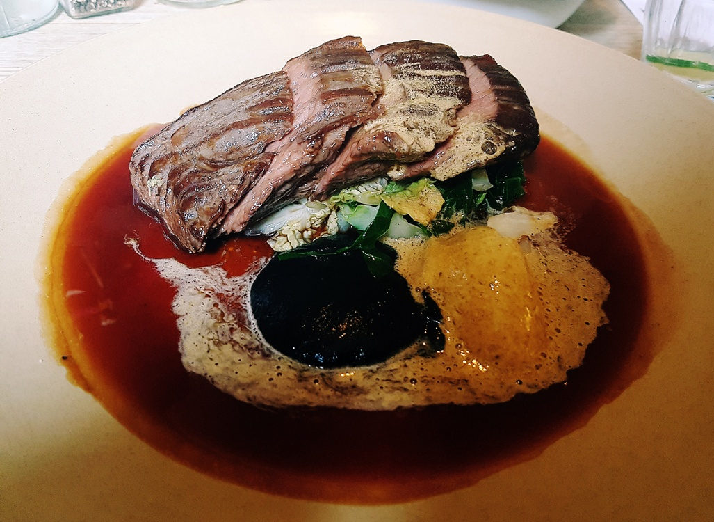 Bavette steak at the Milestone Sheffield