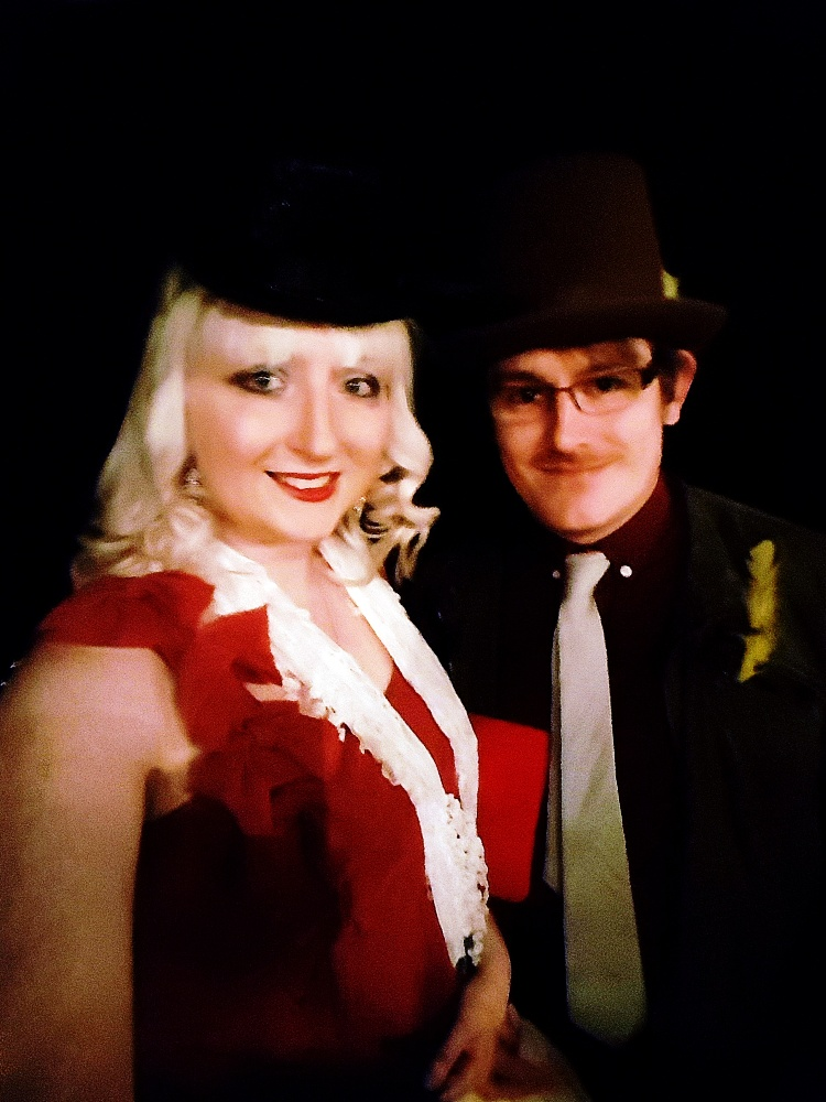 Me and TC at the Moulin Rouge - Spoiler Free Secret Cinema tips by BeckyBecky Blogs