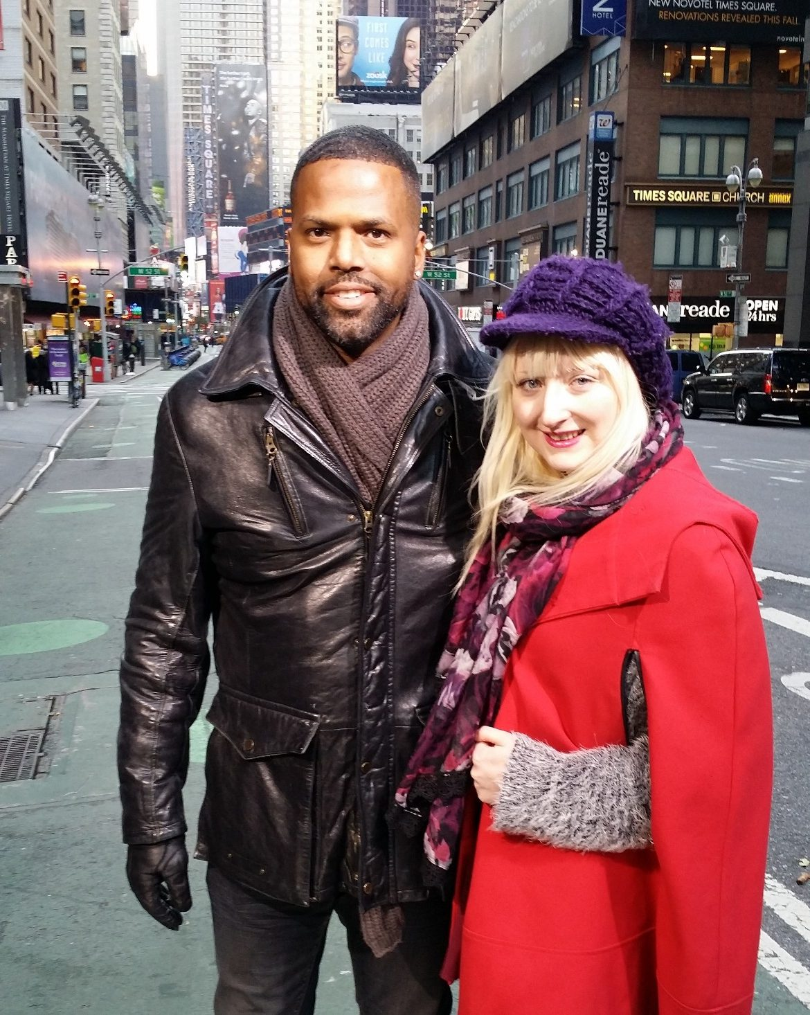 Me and AJ Calloway - New York New York, travel blog by BeckyBecky Blogs