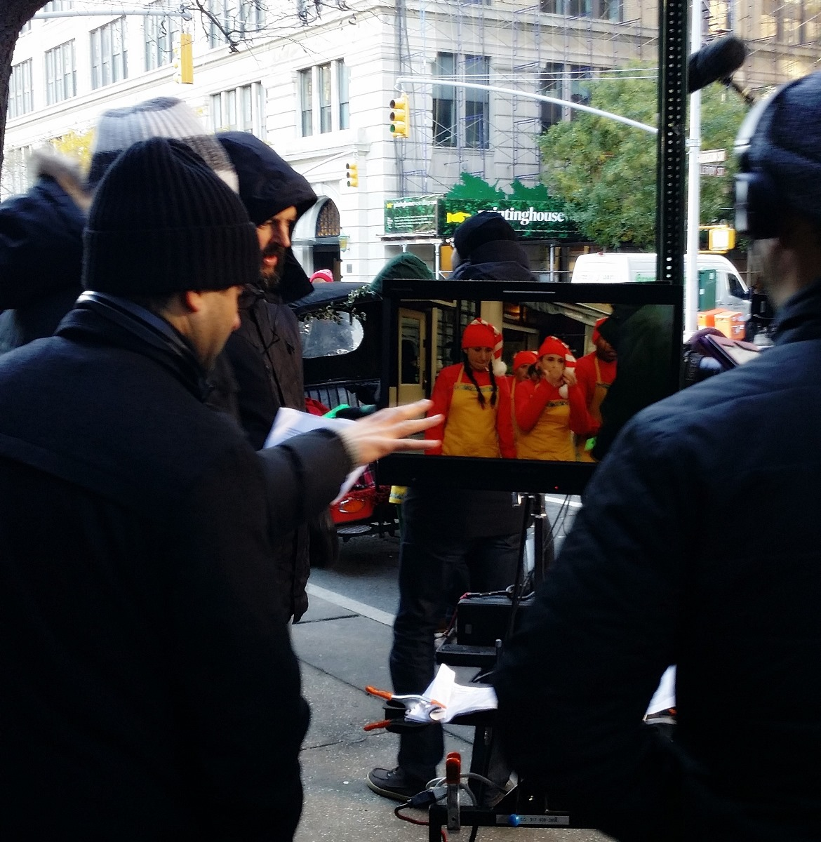 Filming Christmas ads - New York New York, travel blog by BeckyBecky Blogs