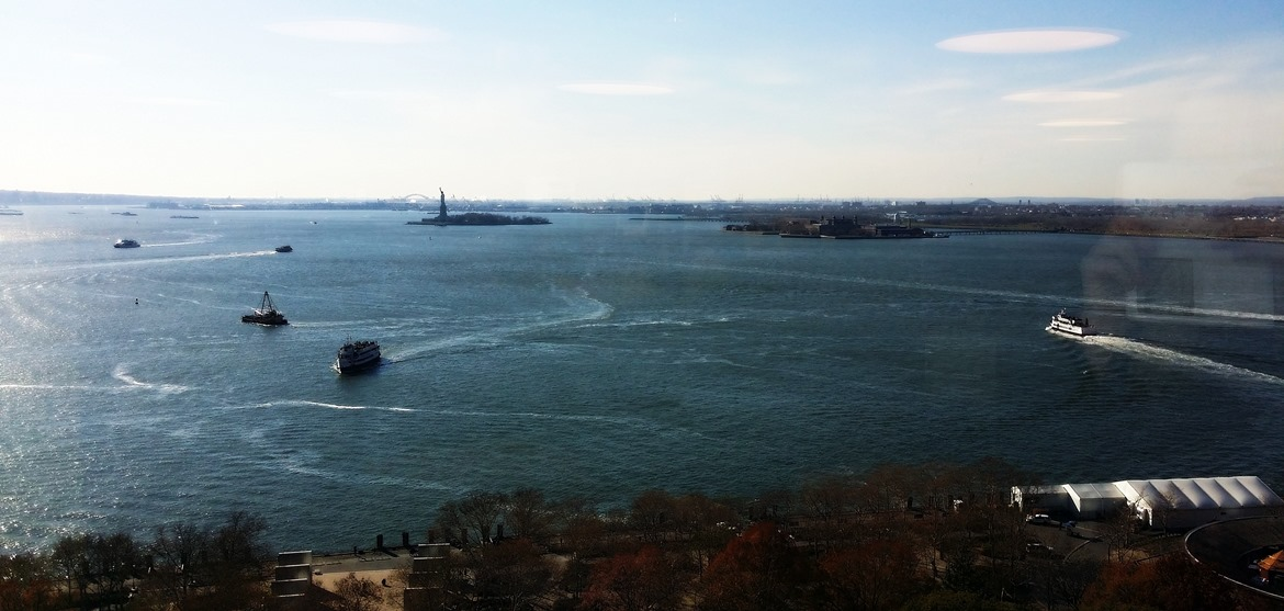 View across to the Statue of Liberty - New York New York, travel blog by BeckyBecky Blogs