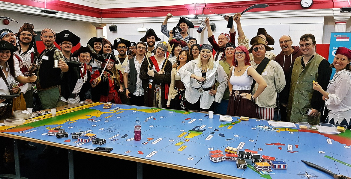 The Pirate Team at The Pirate Republic Megagame - Megagames I'm Excited For in 2018 by BeckyBecky Blogs