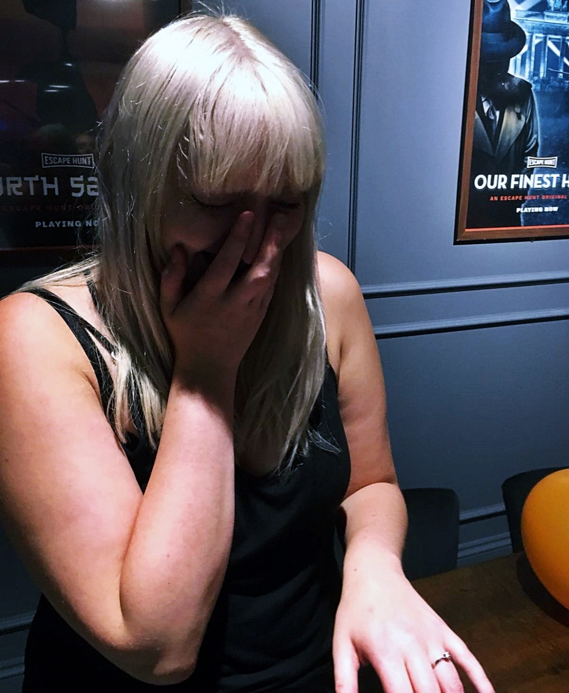 Getting emotional at my proposal at Escape Hunt escape room - Ten things that went through my mind when Tim proposed to me by BeckyBecky Blogs