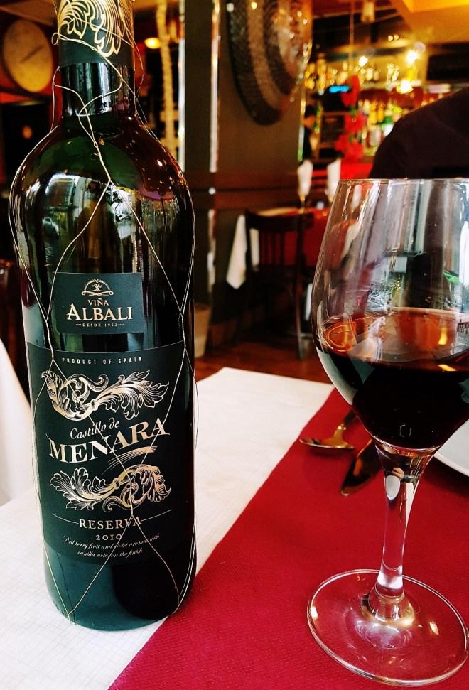 Spanish red wine - Rocio Restaurant Review