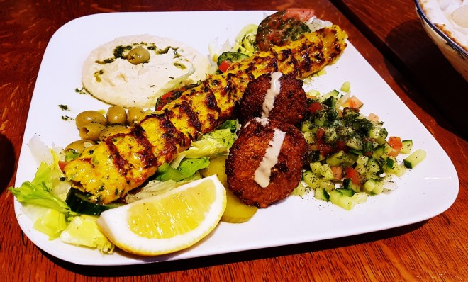 Chicken Mixed Starter at Safran Persian restaurant in Leeds