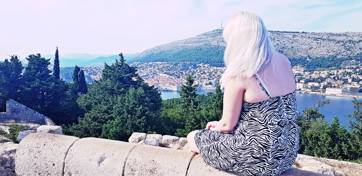 Looking at Dubrovnik from Lokrum Island in Croatia - September 2018 Monthly Recap by BeckyBecky Blogs