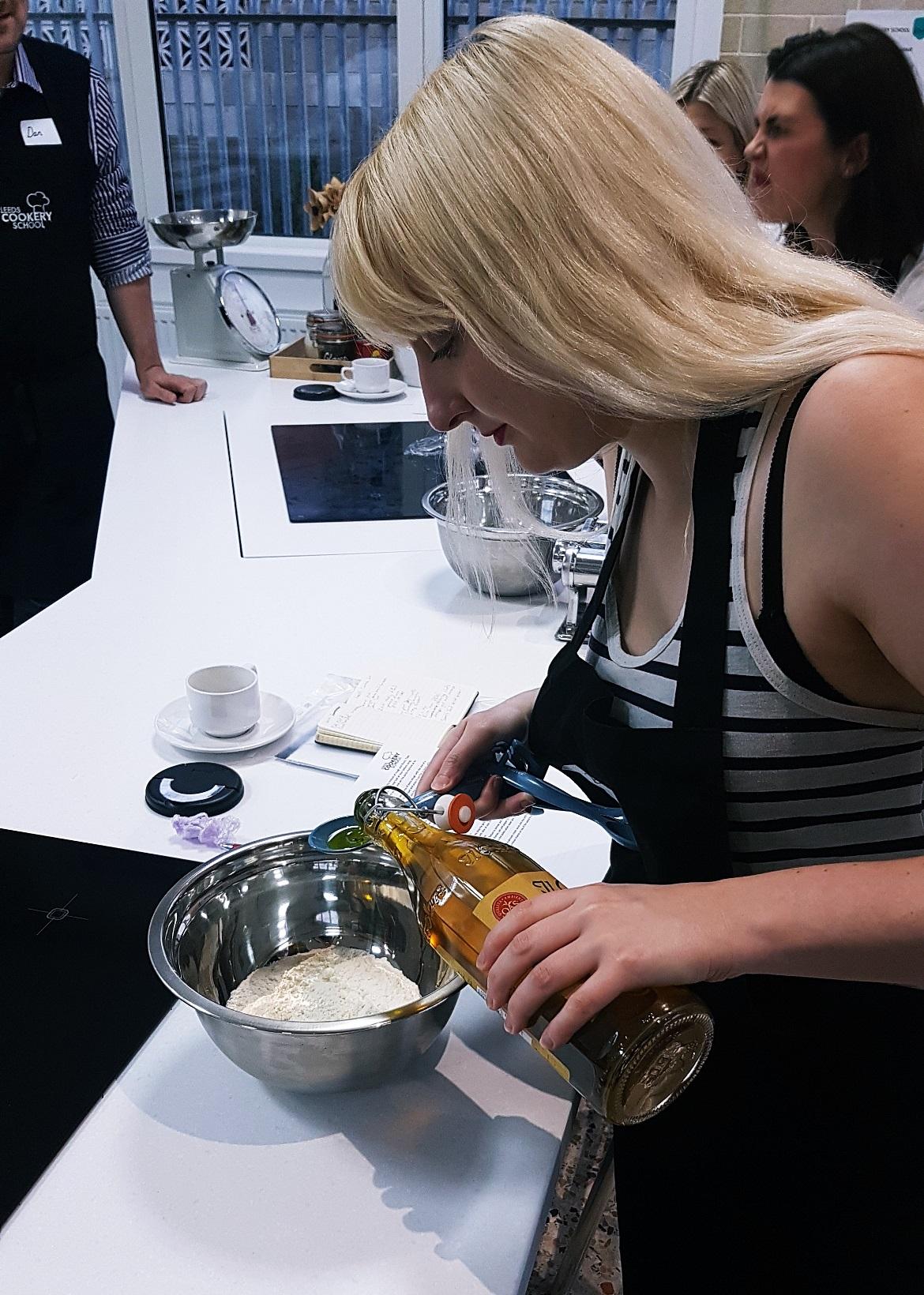 Making pasta dough at Leeds Cookery School - September Monthly Recap by BeckyBecky Blogs