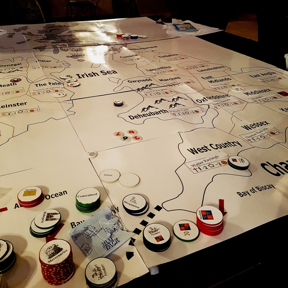 The English map at the Spanish Road megagame
