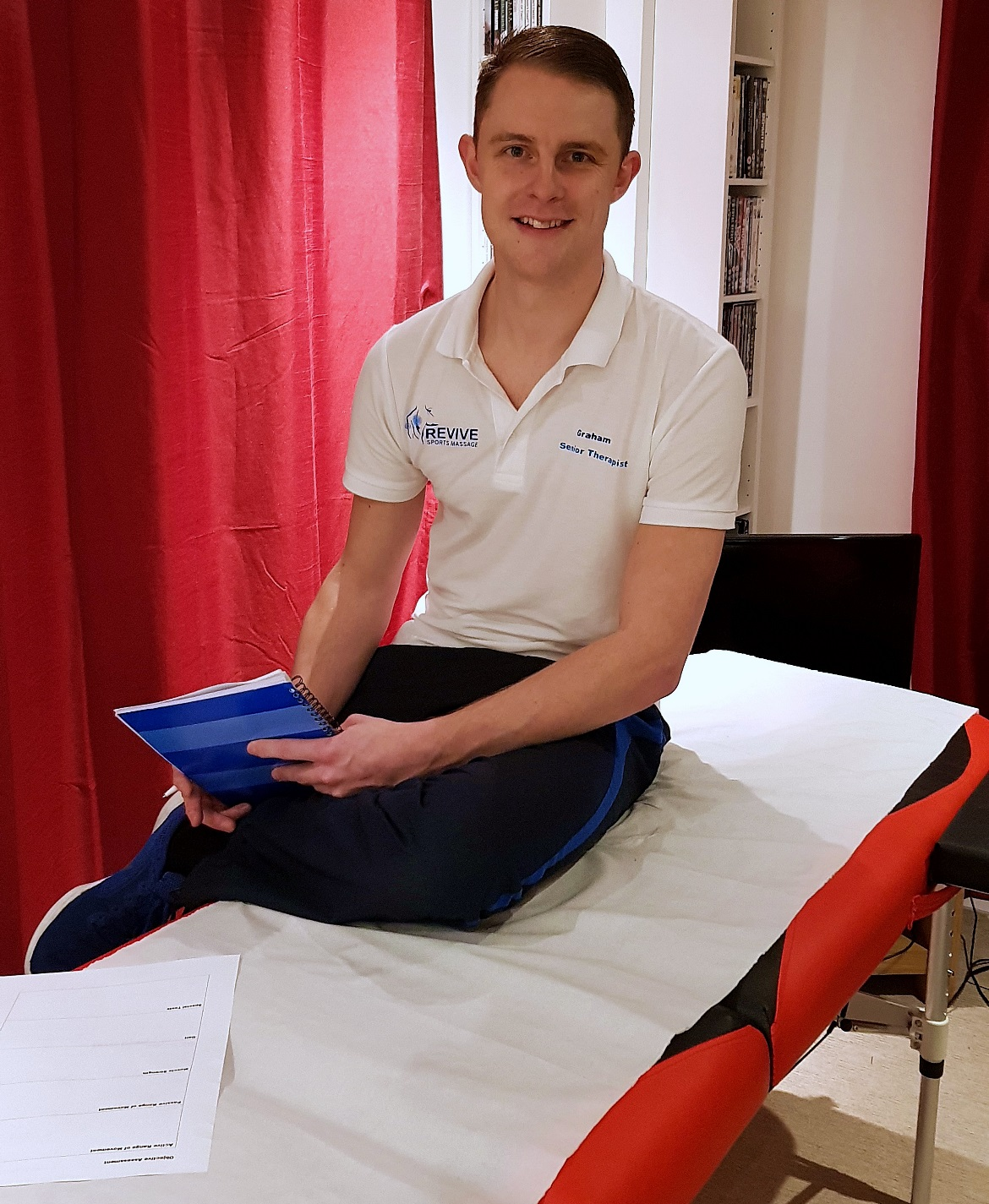 Graham Marr, managing director and senior therapist - Deep Tissue Massage with Revive Sports Massage in Leeds by BeckyBecky Blogs