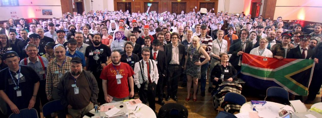 Group photo - From the Achives, Watch The Skies 2 Megagame Report by BeckyBecky Blogs