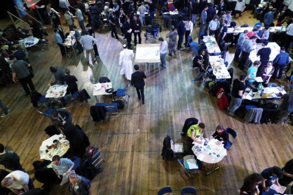 View from above - From the Achives, Watch The Skies 2 Megagame Report by BeckyBecky Blogs