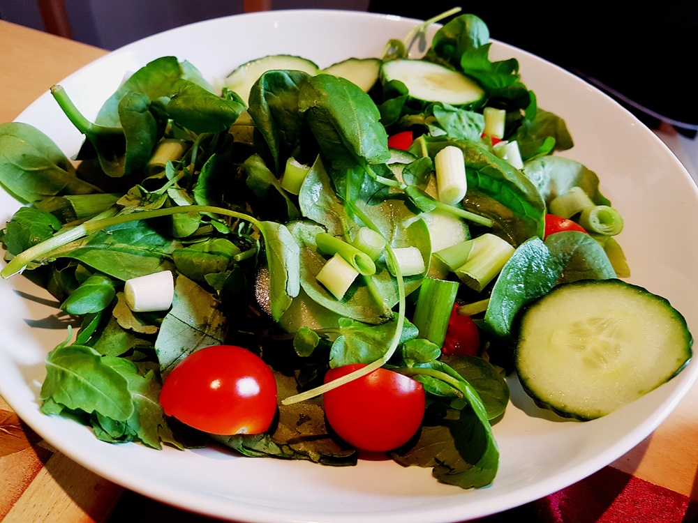 Green salad at our House Wimbledoning