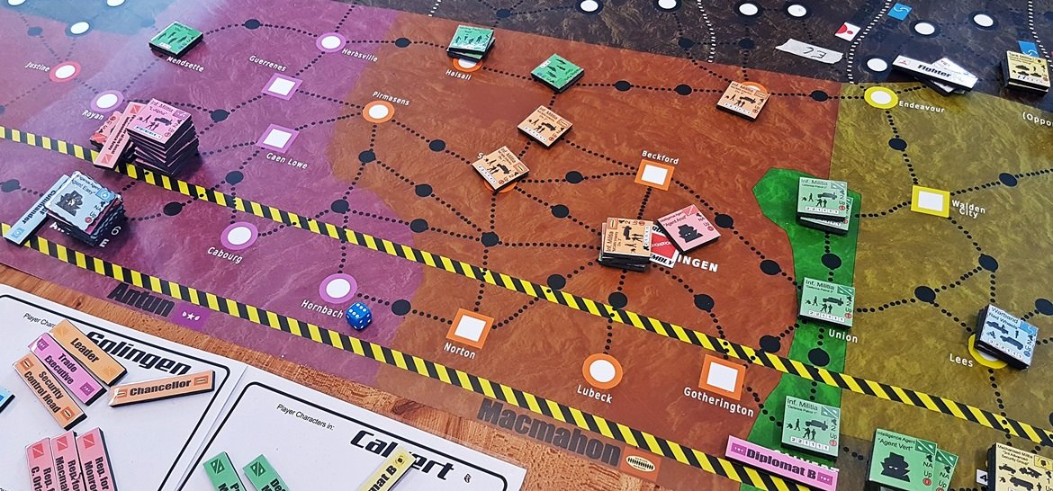 Quiet in Macmahon - A World Divided megagame after action report by BeckyBecky Blogs