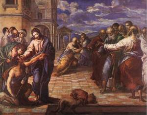 "El Greco ""Healing of the Man Born Blind"""