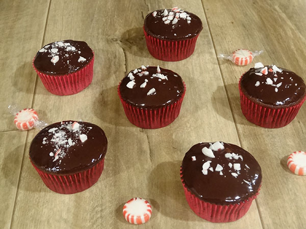 Chocolate cupcakes with chocoalte ganache