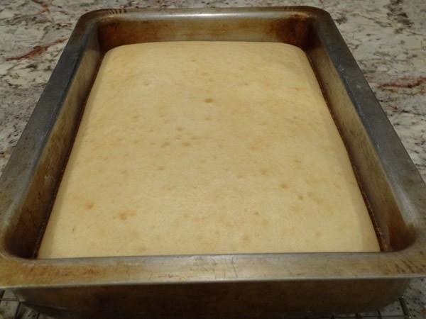freshly baked cake
