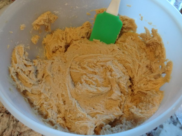 dry ingredients added to batter
