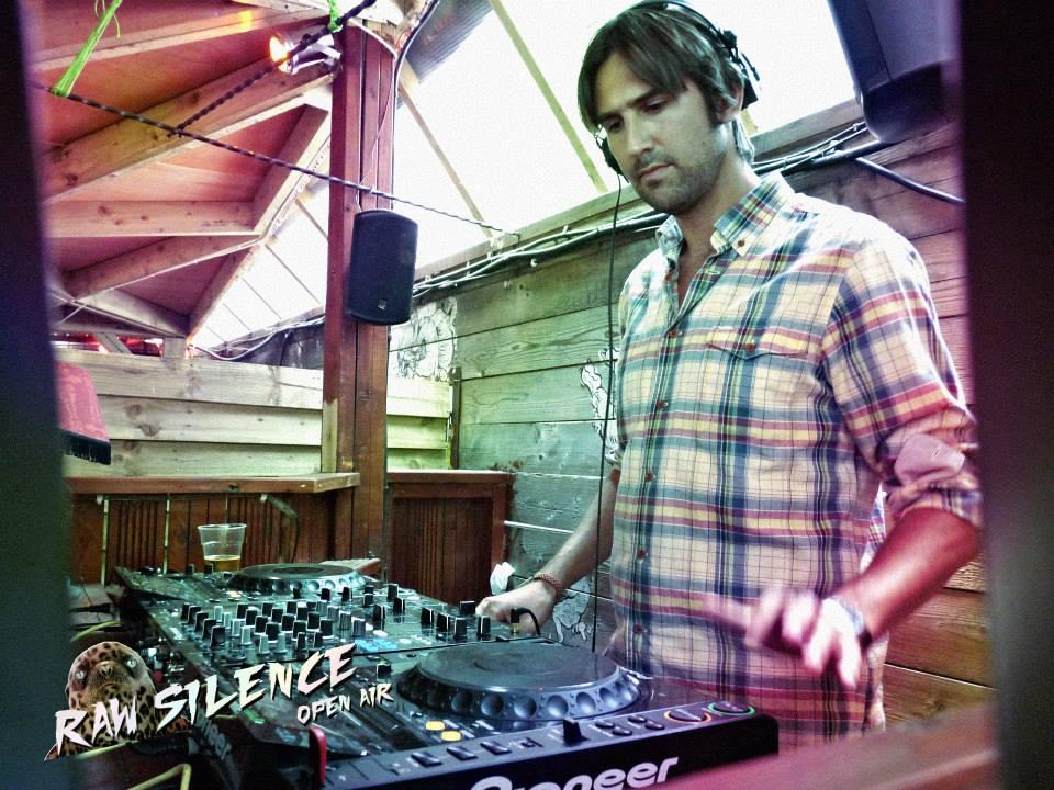 Michel at dj gig