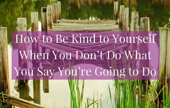 When we say we're going to do things then don't, we can end up digging ourselves into an even deeper hole through self-criticism and avoidance. Click the image to discover a different way and find out how to be kind to yourself when you don't do what you say you're going to do || www.becomingwhoyouare.net