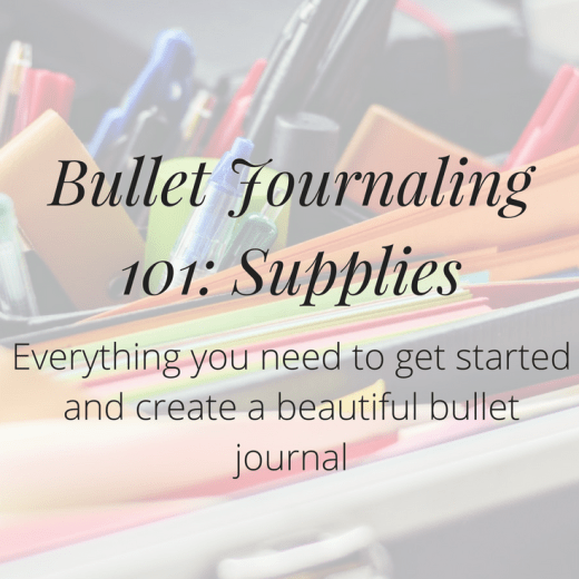 What bullet journaling supplies do you need to get started? Click the image to discover the necessary items, as well as a few optional extras.