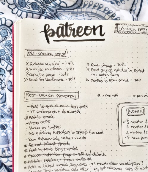 Bullet Journal Project Page