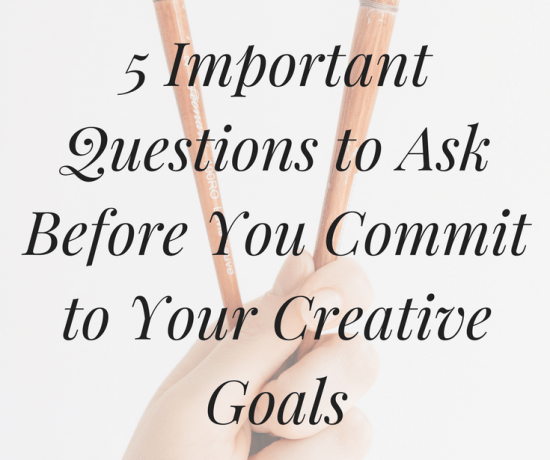 Do you struggle to set creative goals that leave you happy and fulfilled? Click the image to discover 5 important questions you should ask before committing to a new creative goal ->