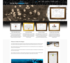 Family Tree Designer website redesign using the Wordpress opensorce platform