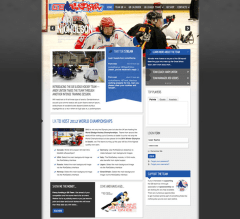Icecrypt website created on Joomla template using Adobe Software package