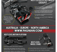A4 magazine advert design for Sim Racer magazine