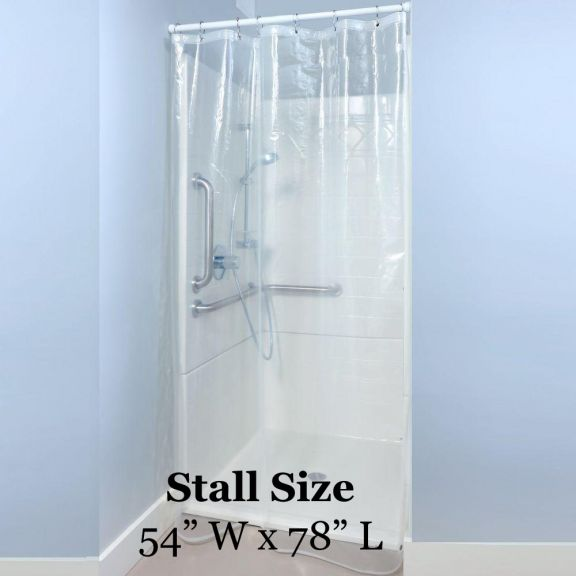 clear heavy duty shower stall liner 54in x 78in