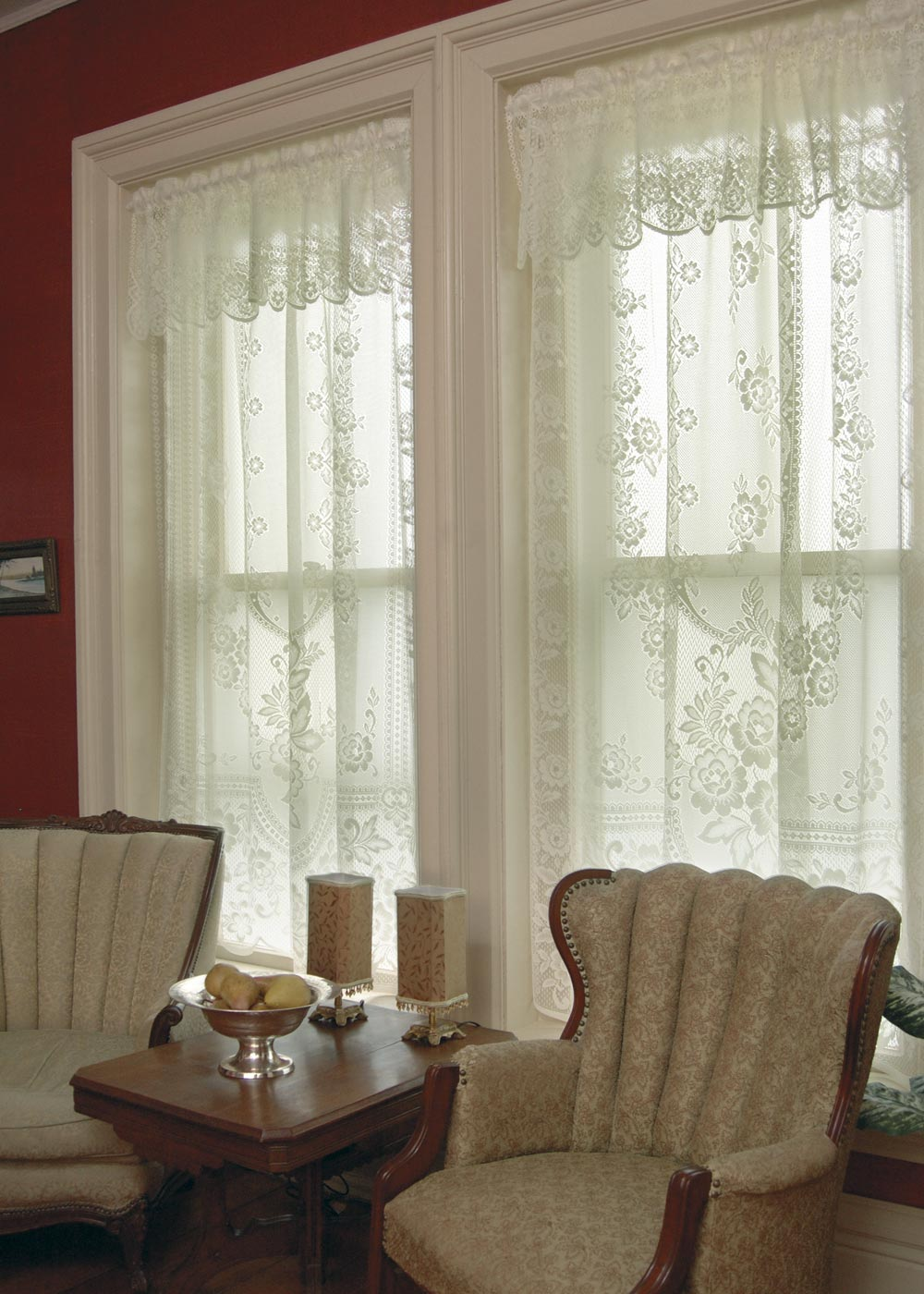 Victorian Rose Lace Curtains By Heritage Lace