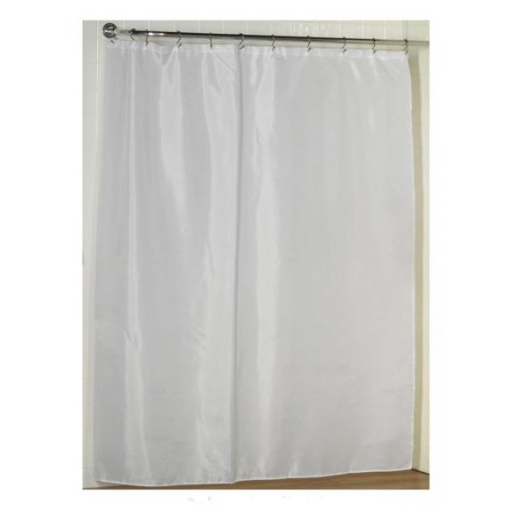 bulk case pack fabric shower curtain liner with weighted hem 12 pack