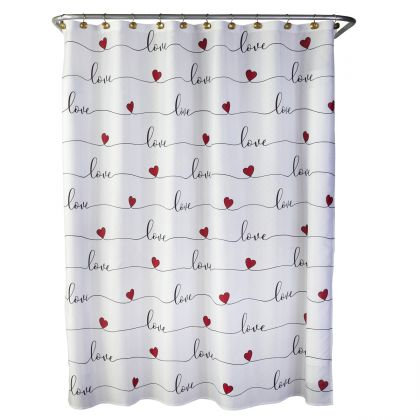 color rounds red shower curtain hooks
