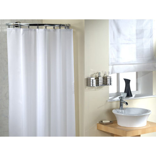 fabric shower stall liner or curtain