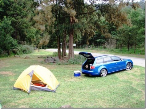 The Audi RS4, perfect high-performance camping vehicle