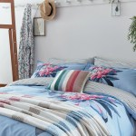Joules Cornish Floral Duvet Cover Set Pale Blue Bedeck Home