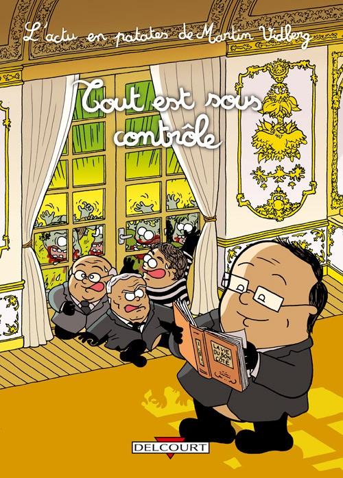 hollande caricaturé à l'élysée
