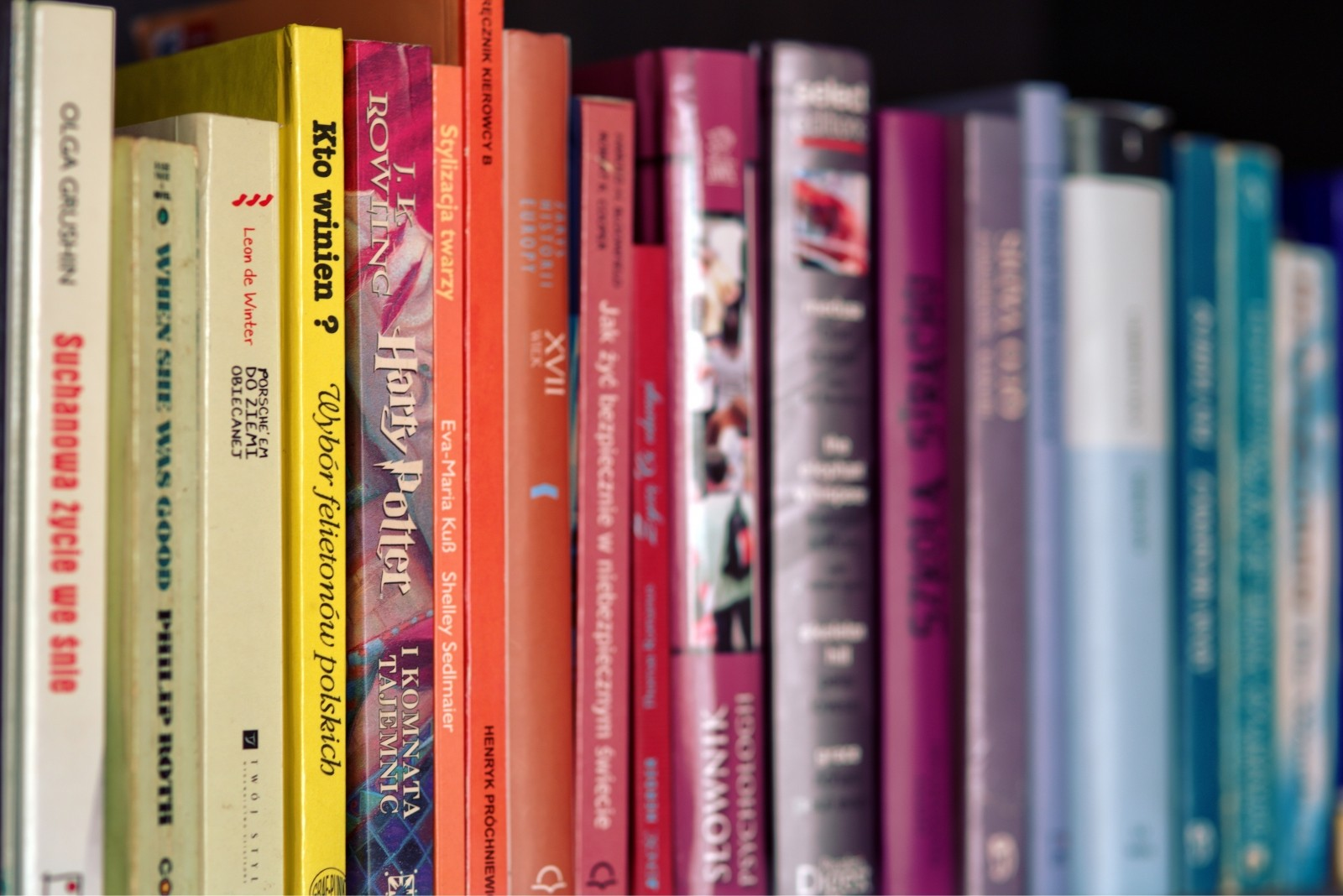 colorful-books-on-shelf (1) - Bedford Free Public Library