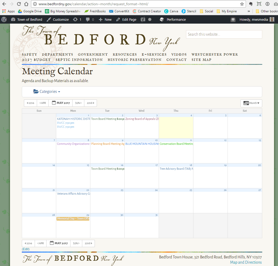 Full Calendar Page