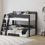 Flair Furnishing Flick Triple Bunk Bed Grey