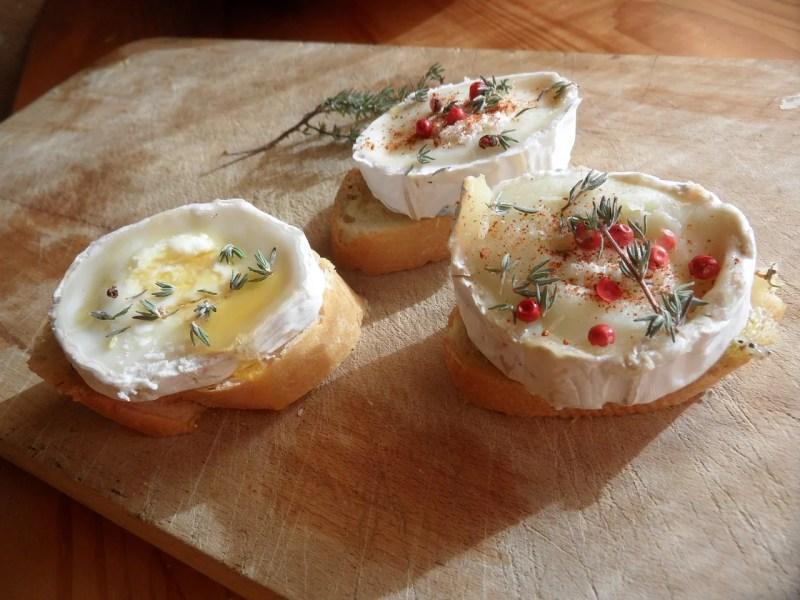 tapas frías con queso cabra