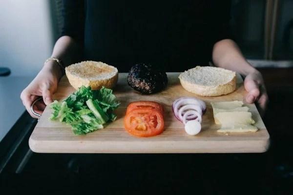 Ingredientes para preparar hamburguesa gourmet