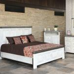 Ifd Luna 4pc Panel Bedroom Set In Off White