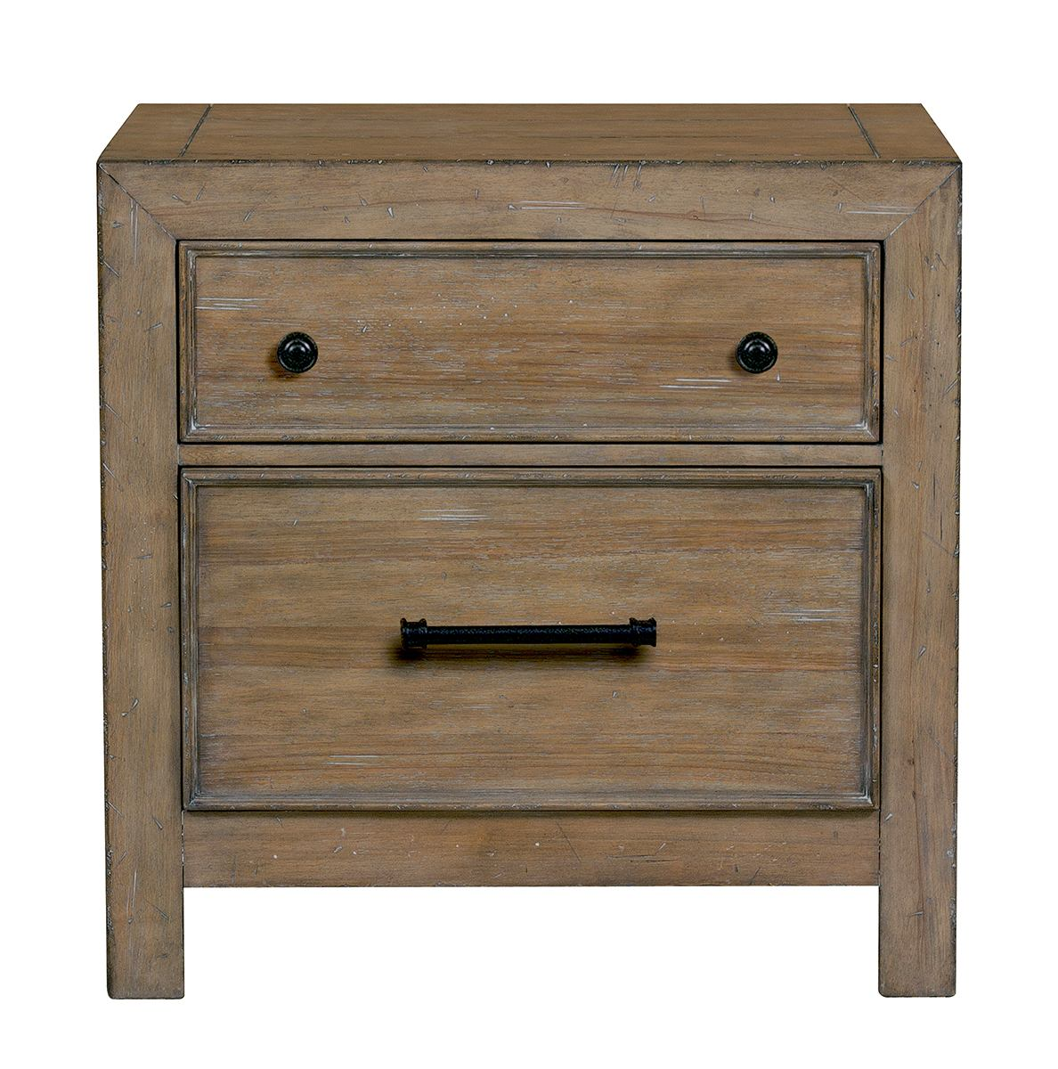 Samuel Lawrence Flatbush 2 Drawer Nightstand In Light Oak S084 050